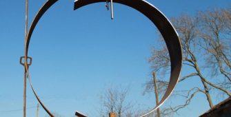 corten steel sculpture building