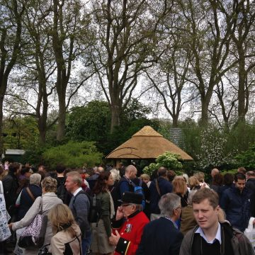 Busy around the M&G Garden at the Chelsea Flower Show