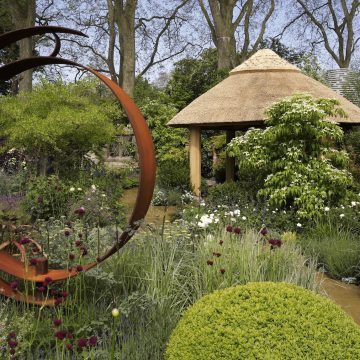 Traditional Garden Design at The Chelsea Flower Show by Garden Designer Roger Platts. Celebrating 100th anniversary of The Chelsea Flower Show in 2013.