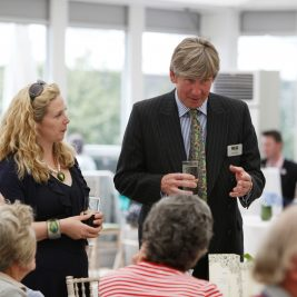 Chelsea Flower Show 2010: Invited guests enjoy the M&G corporate hospitality area at The RHS Chelsea Flower Show 2010 - Friday the 28th of May in the afternoon.